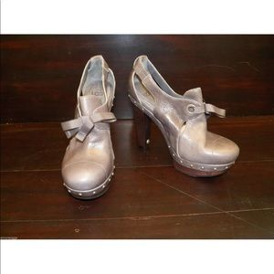New Womens UGG Celestina Charcoal Leather Heels